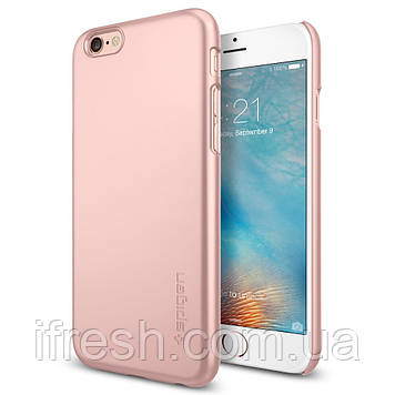 Чехол Spigen для iPhone 6s / 6 Thin Fit, Rose Gold