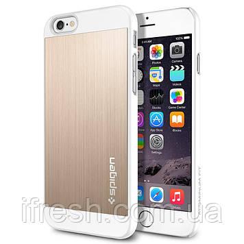 Чехол Spigen для iPhone 6s / 6 Aluminum Fit, Champagne Gold