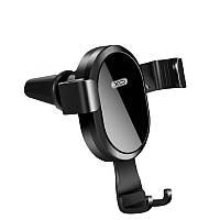 Автотримач з бездротовим зарядним XO WX015 black