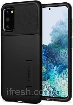 Чехол Spigen для Samsung Galaxy S20 Slim Armor, Black (ACS00658)