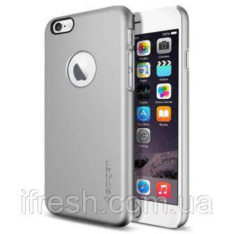 Чехол Spigen для iPhone 6s / 6 Thin Fit A, Satin Silver
