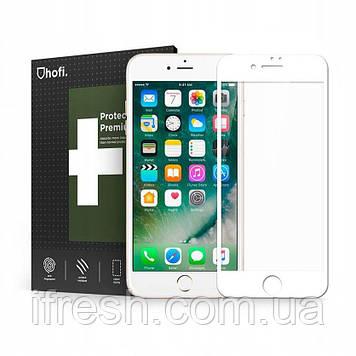 Защитное стекло, гибридное HOFi PRO +(FLEX HYBRID) для iPhone 8/7 White