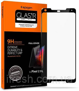 Защитное стекло Spigen для Google Pixel 2 XL GLAS.tR Full Cover, Black (F17GL22779)