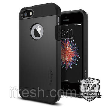 Чехол Spigen для iPhone SE/5S/5  Tough Armor, Black