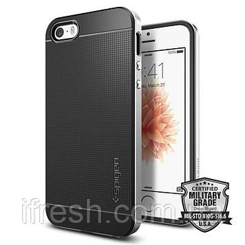 Чехол Spigen для iPhone SE/5S/5 Neo Hybrid, Satin Silver