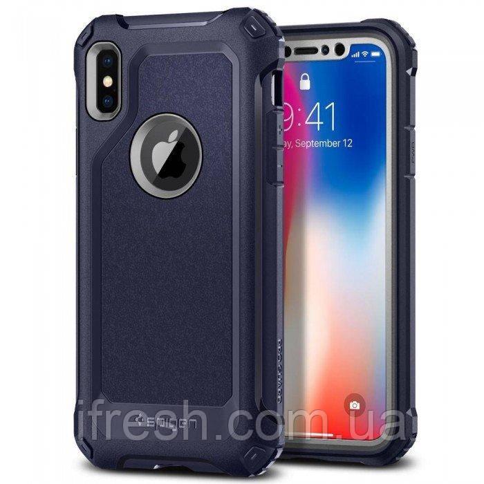 Чехол Spigen для iPhone X Pro Guard, Midnight Blue (057CS22653)