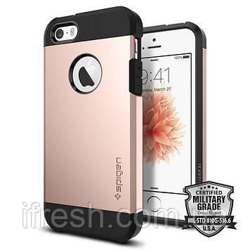 Чехол Spigen для iPhone SE/5S/5 Tough Armor, Rose Gold