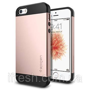 Чехол Spigen для iPhone SE/5S/5 Slim Armor, Rose Gold