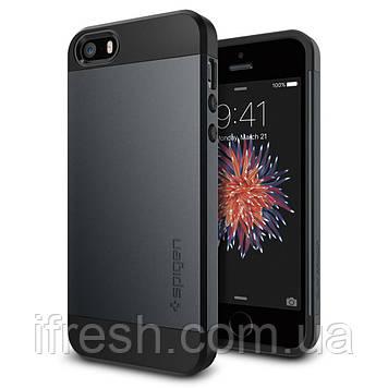 Чехол Spigen для iPhone SE/5S/5 Slim Armor, Metal Slate