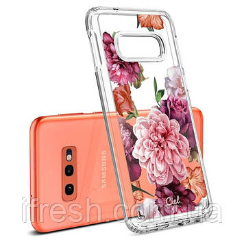 Чехол Spigen для Samsung Galaxy S10е Ciel by CYRILL, Rose Floral (609CS25859)