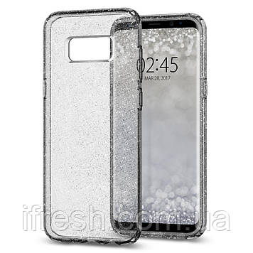 Чехол Spigen для Samsung S8 Plus Liquid Crystal Glitter, Space Quartz