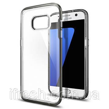 Чехол Spigen для Samsung S7 Neo Hybrid Crystal, Gunmetal