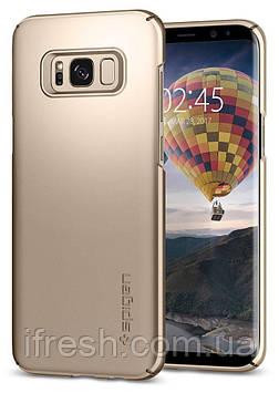 Чехол Spigen для Samsung S8 Plus Thin Fit, Gold Maple