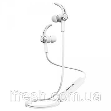 Наушники Bluetooth Baseus Licolor Magnet B11, Silver+ White (NGB11-02)