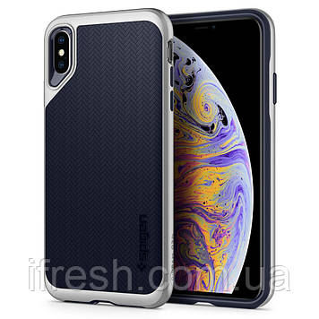 Чехол Spigen для iPhone XS Max Neo Hybrid, Satin Silver (065CS24840)
