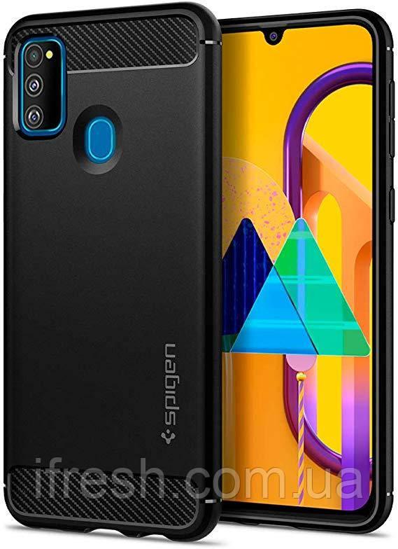 Чехол Spigen для Samsung Galaxy M30s Rugged Armor, Black (ACS00091)