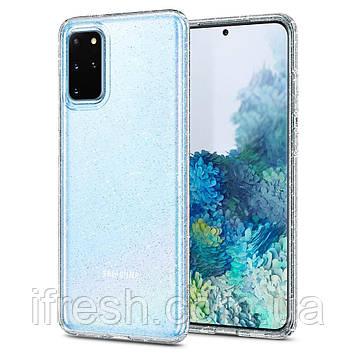 Чехол Spigen для Samsung S20 Plus Liquid Crystal Glitter, Crystal Quartz (ACS00752)