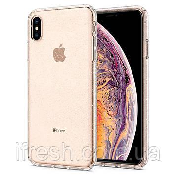 Чехол Spigen для iPhone XS Max, Liquid Crystal, Glitter, Crystal Quartz (065CS25123)