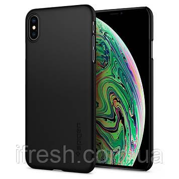 Чехол Spigen для iPhone XS Max Thin Fit, Black (065CS24824)