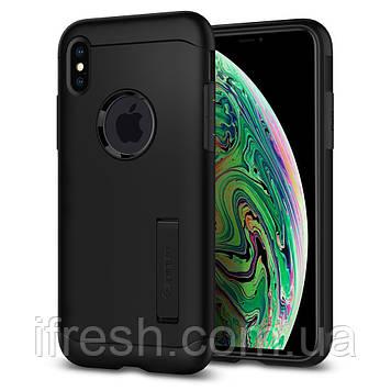 Чехол Spigen для iPhone XS Max, Slim Armor, Black (065CS25156)