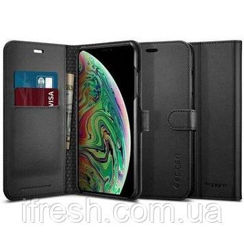 Книжка-Чехол Spigen для iPhone Xs Max Wallet S, Black (065CS24841)