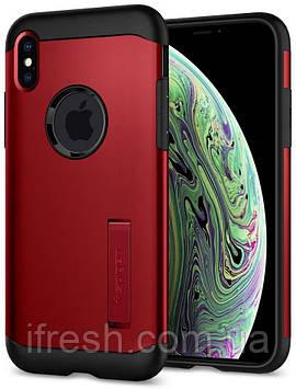 Чехол Spigen для iPhone XS Max Slim Armor, Merlot Red (065CS25158)