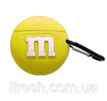 Чехол силиконовый для AirPods Pro M&M`s, Желтый
