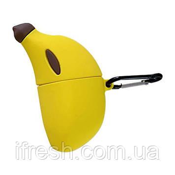 Чехол для Apple AirPods Банан 3D, силиконовый