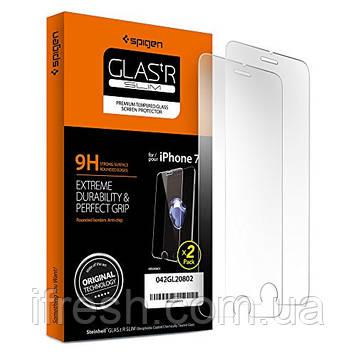 Защитное стекло Spigen для iPhone 8/7 SLIM HD, 2шт (042GL20802)