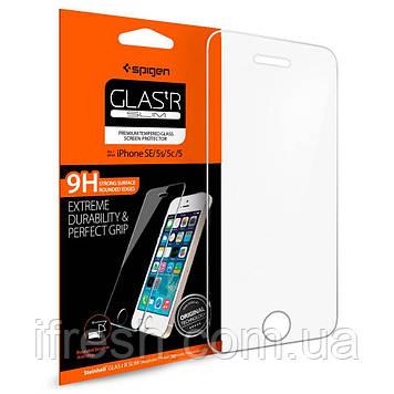 Защитное стекло Spigen для iPhone SE/5S/5 (041GL20597) + Бесплатная поклейка