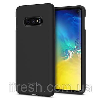 Чехол Spigen для Samsung Galaxy S10е Silicone Fit, Black (609CS25854)