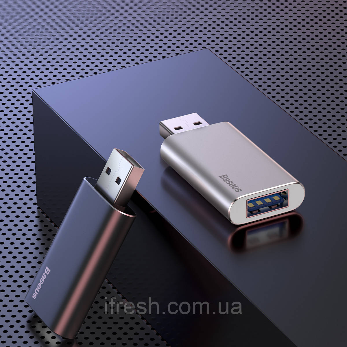 Флэш-накопитель Baseus на 16 ГБ с USB-портом для зарядки, серого цвета (ACUP-A0A)
