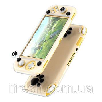 Чехол Baseus для игровой консоли Nintendo Switch Lite - GS06L  (with 2 key caps), White + Black (WISWLT-21)