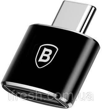 Адаптер-переходник Baseus USB Female To Type-C Male, Black (CATOTG-01)