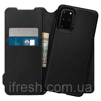 Чехол - Книжка Spigen для Samsung S20 Plus, Wallet Brick (ACS00773)