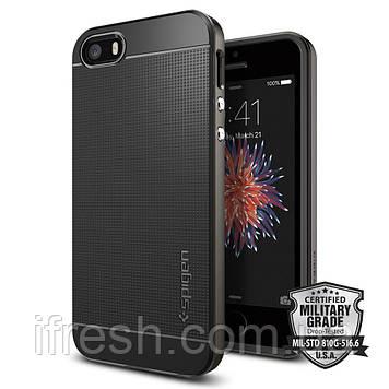 Чехол Spigen для iPhone SE/5S/5 Neo Hybrid, Gunmetal
