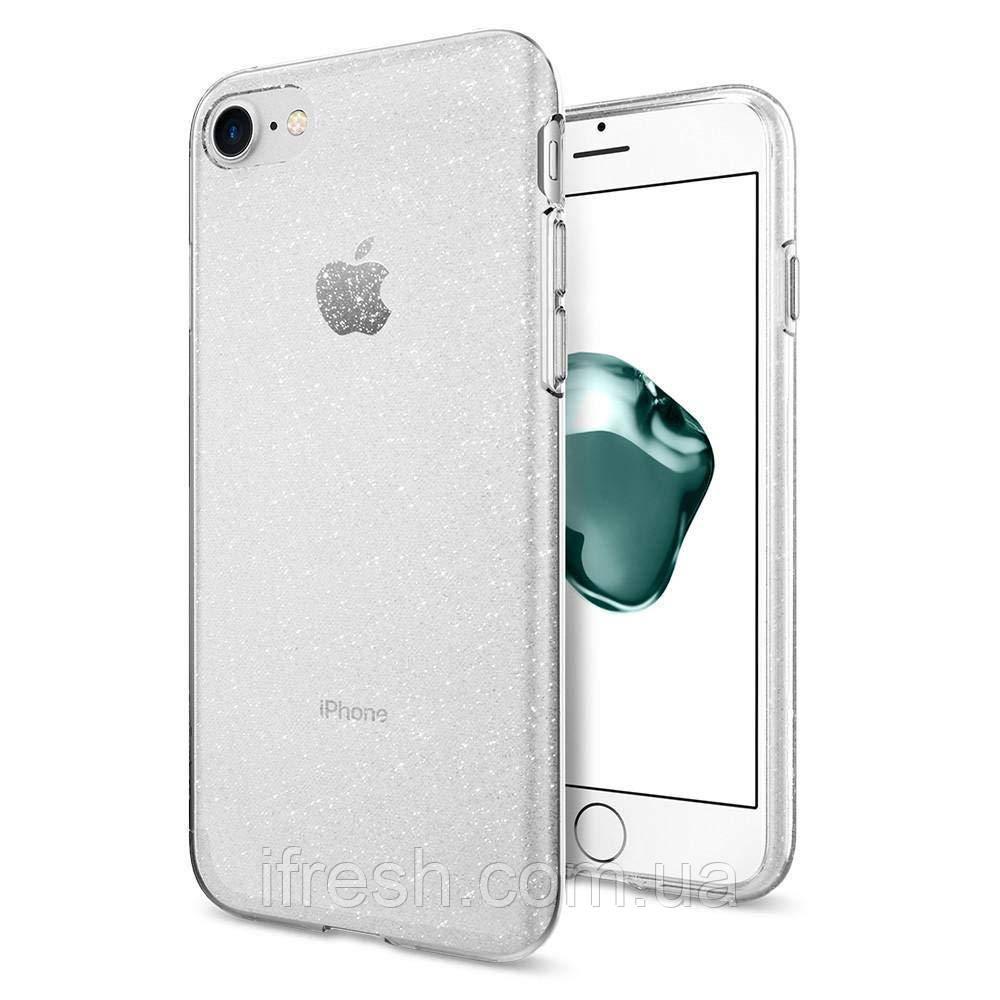 Чехол Spigen для iPhone SE 2020/8/7 Liquid Crystal Glitter, Crystal Quartz (042CS21760)