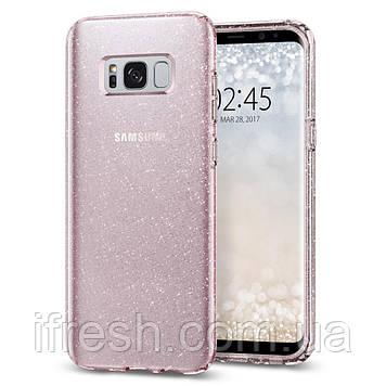 Чехол Spigen для Samsung S8 Plus Liquid Crystal Glitter, Rose Quartz (571CS21667)
