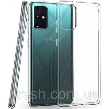 Чехол Ou Case для Samsung Galaxy S20 Plus Unique Skid Silicone, Transparent