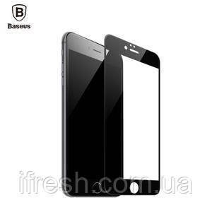 Защитное стекло Baseus Silk-screen 0.23mm iPhone 6/6s, Black (SGAPIPH6S-DE01)