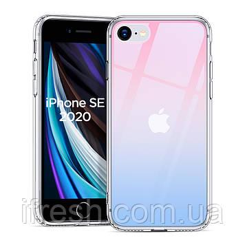 Чехол ESR для iPhone SE 2020/8/7 Mimic Tempered Glass, Red+Blue (3C01186760602)