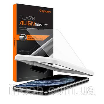 Защитное стекло Spigen для iPhone 11 Pro Max Align Master (1 шт) (AGL00097)