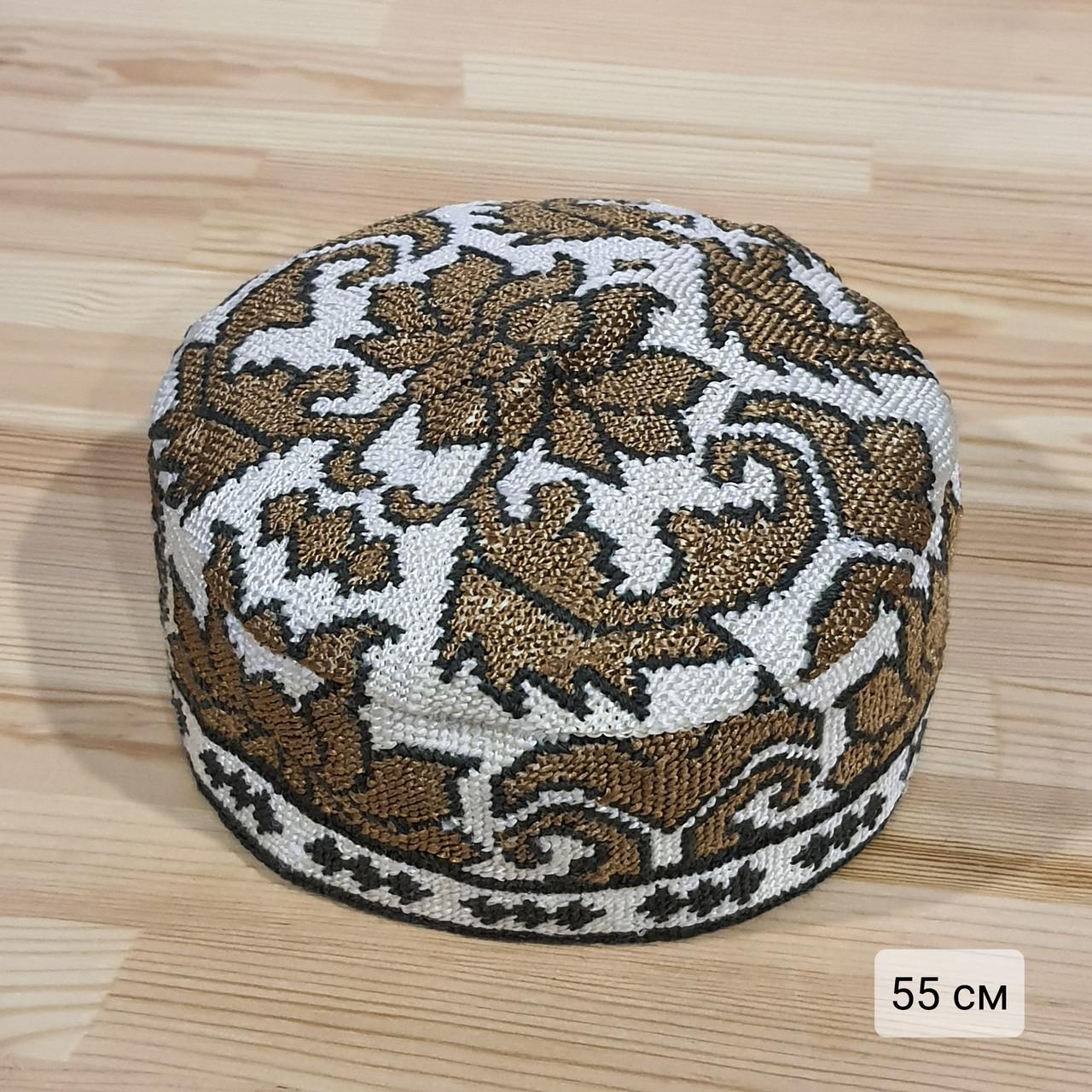 Узбекская тюбетейка 55 см. Ручная вышивка. Узбекистан (55_4)