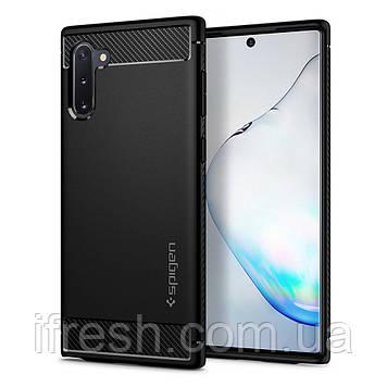 Чехол Spigen для Samsung Galaxy Note 10 Rugged Armor, Matte Black (628CS27374)