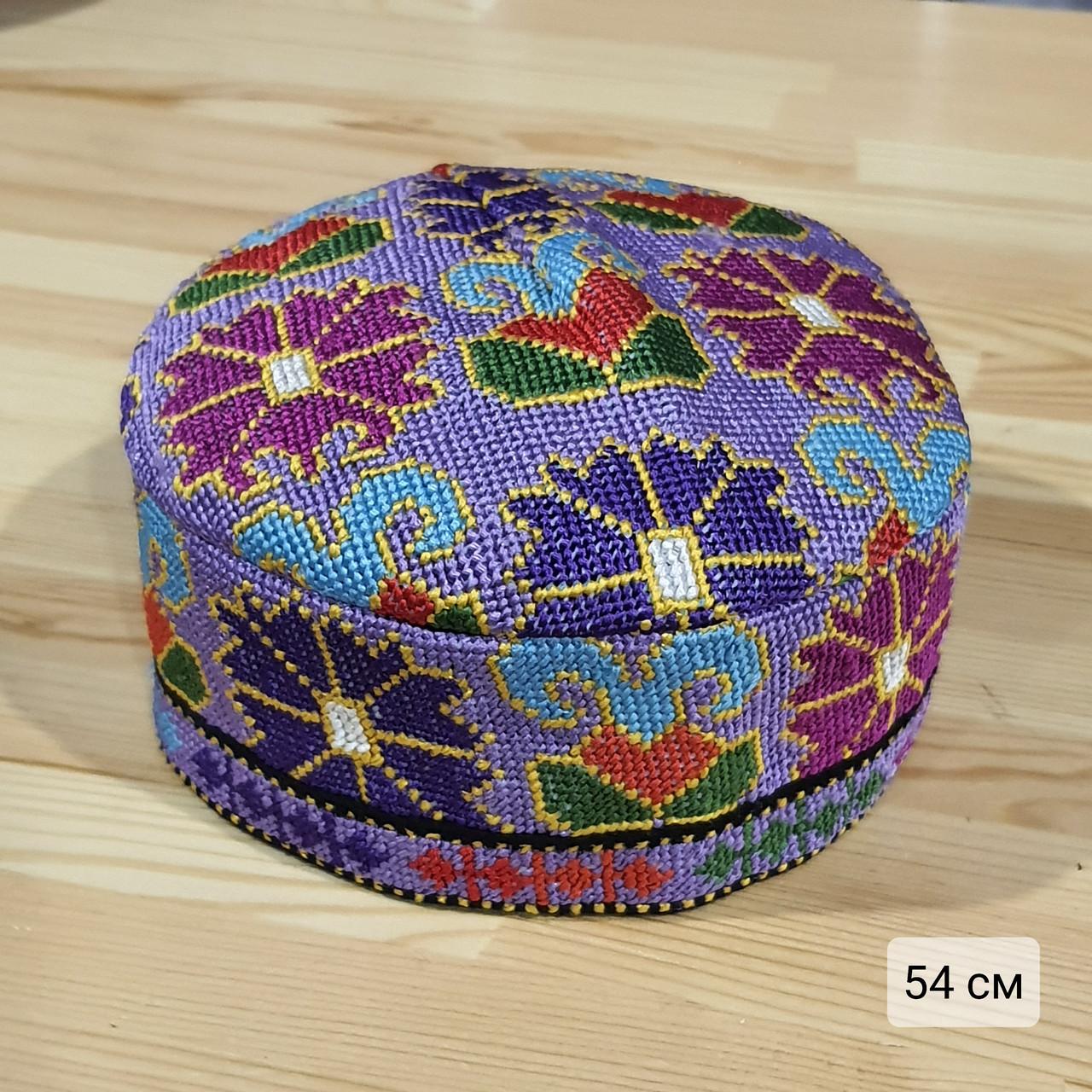 Узбекская тюбетейка 54 см. Ручная вышивка. Узбекистан (54_7)
