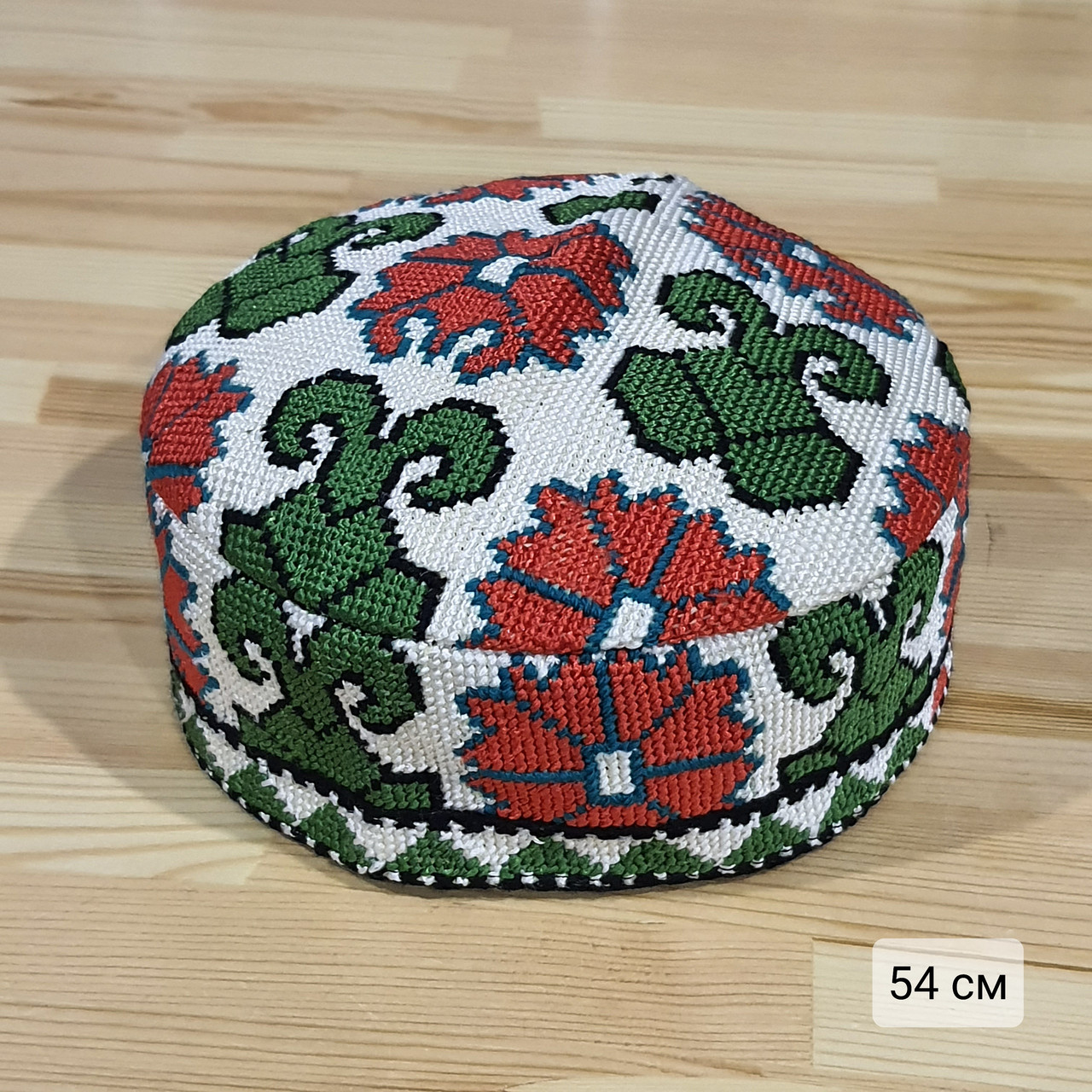Узбекская тюбетейка 54 см. Ручная вышивка. Узбекистан (54_9)