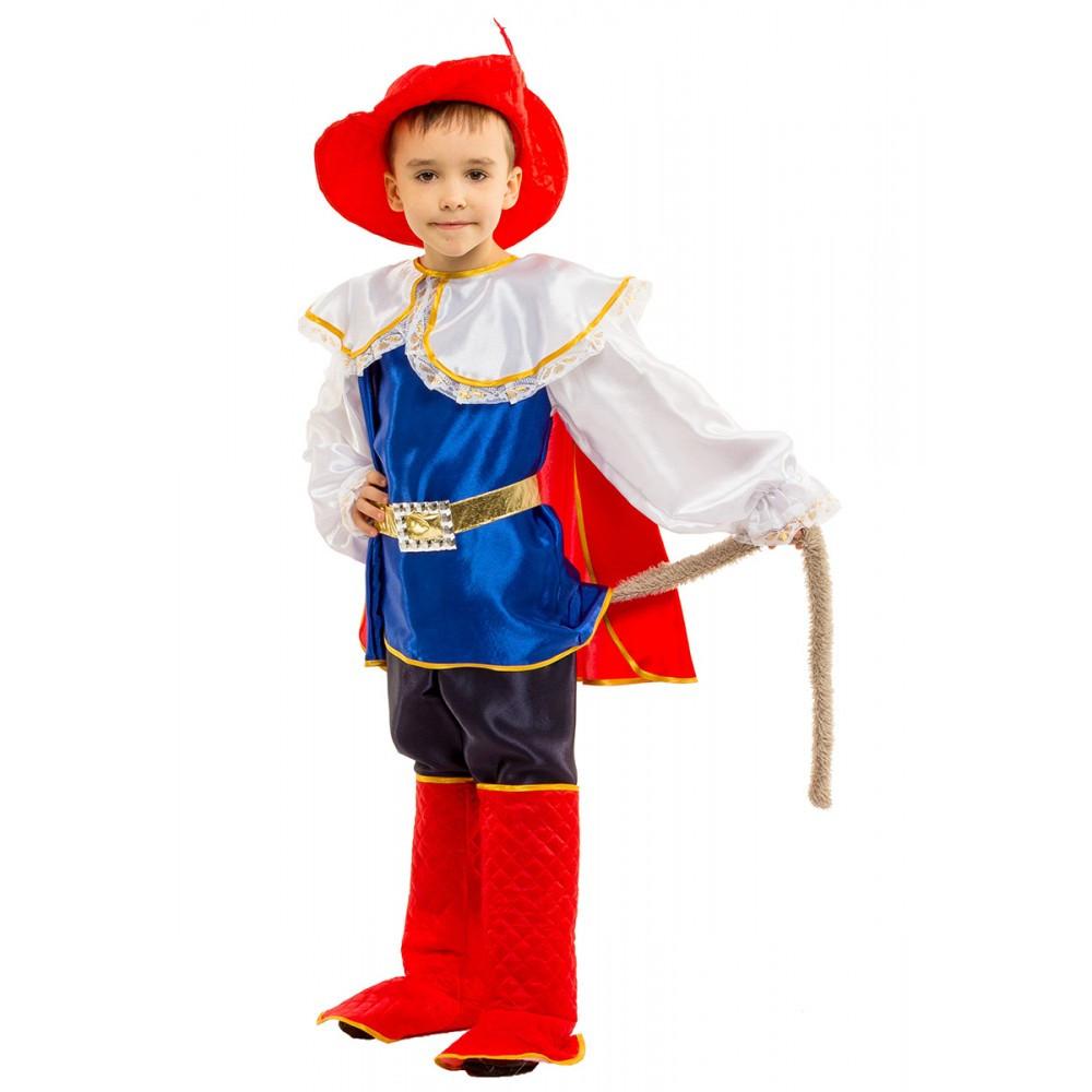 Детский карнавальный костюм Кота в сапогах для мальчика