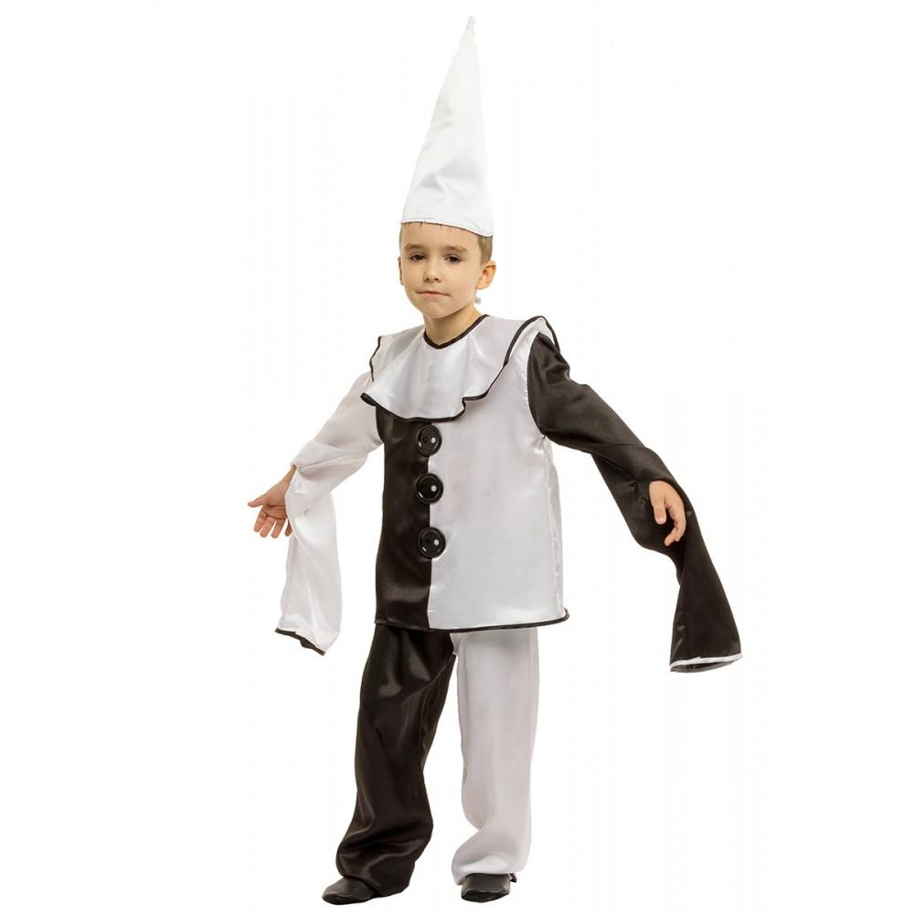 Детский маскарадный костюм Пьеро для мальчика