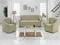 Чехол на диван и кресла из плотной ткани фабричного производства