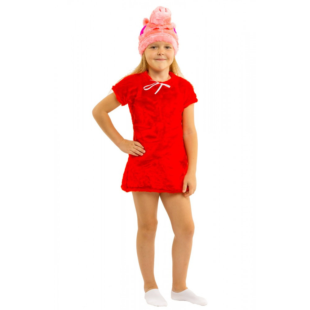 Карнавальный костюм свинки Пеппы для девочки.